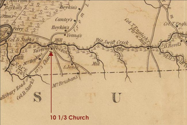 10 1/3 Church in Boykin