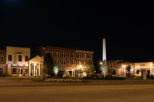 Edgefield Town Square at Night