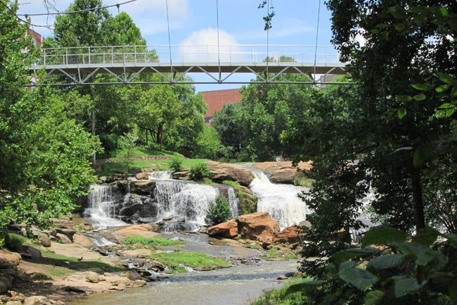 Falls Park Bridge Greenville
