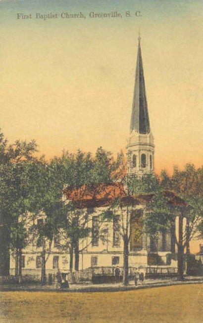 First Baptist Greenville Postcard