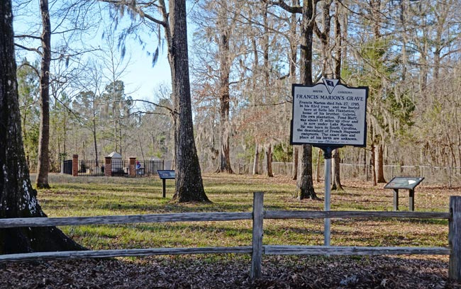 Francis Marion Grave Marker