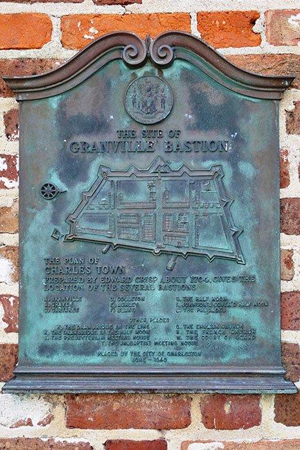 Granville Bastion, Charleston Battery