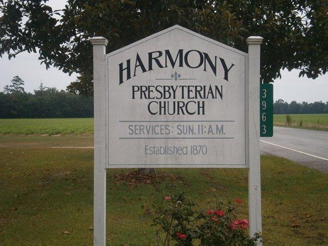 Harmony Presbyterian Sign