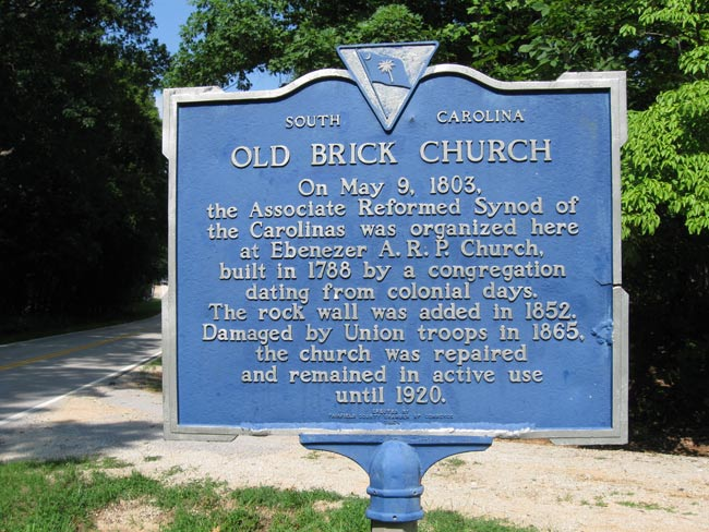 Old Brick Church Historical Marker