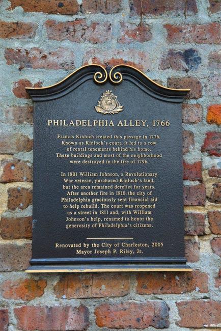 Philadelphia Alley Historical Marker