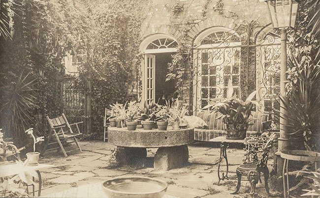 Pirate House Courtyard Historic Photo