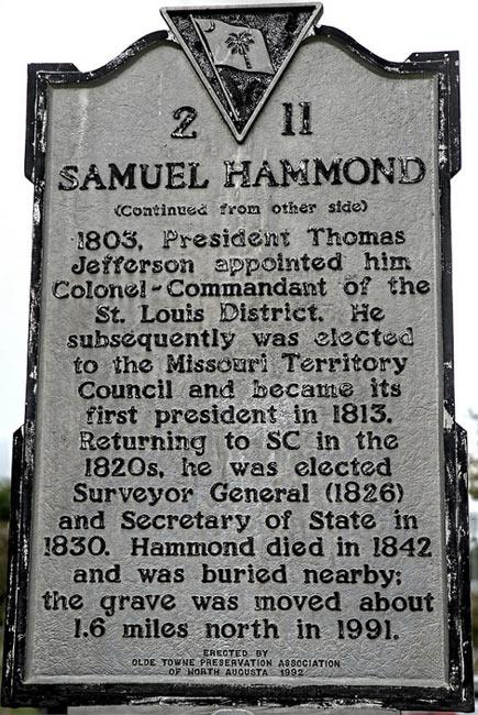 Samuel Hammond Marker Back
