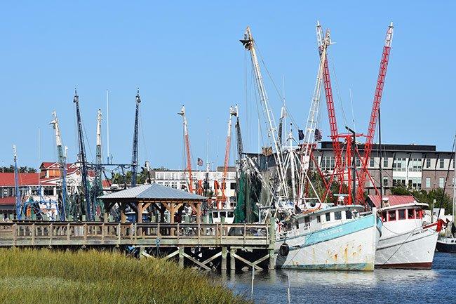 Shem Creek Shrimp Boats