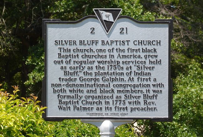 Silver Bluff Baptist Marker
