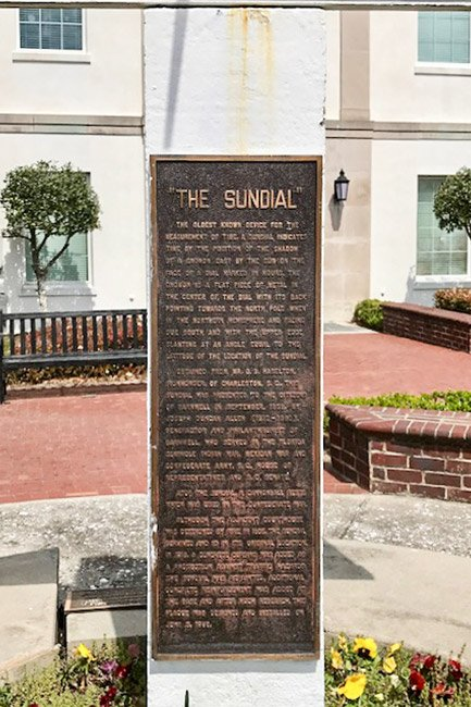 Barnwell County Courthouse Sundial Marker