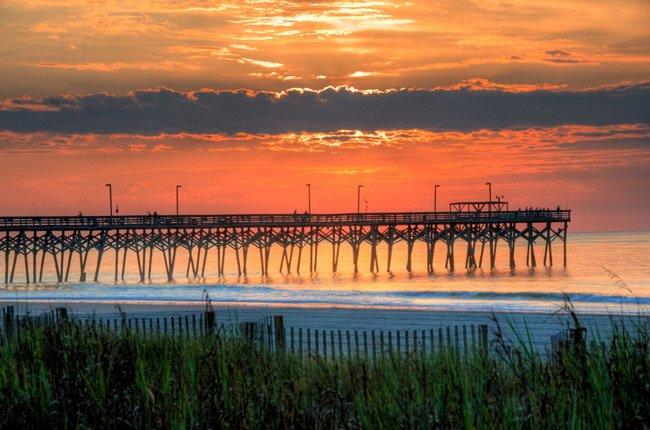 Surfside Pier Sunrise