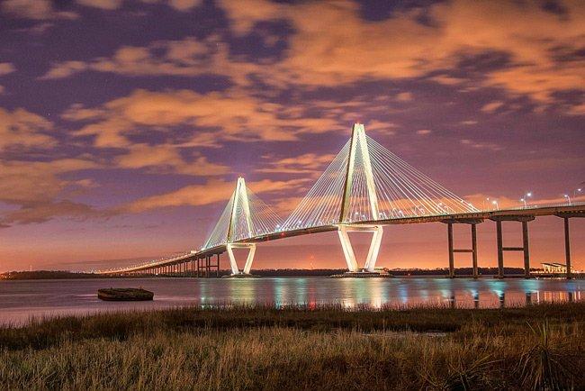 The Ravenel Bridge in Charleston