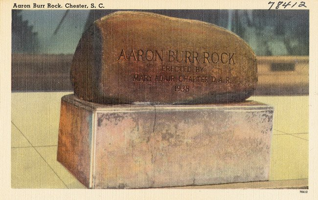 Aaron Burr Rock Postcard