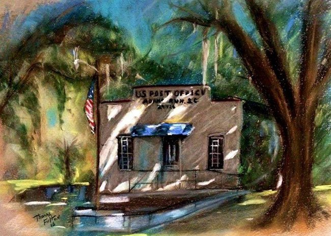 Adams Run Post Office Painting
