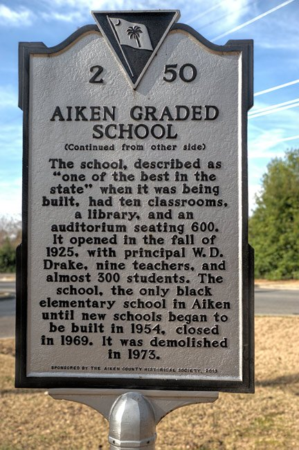 Aiken Graded School Marker