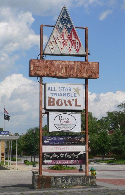 All Star Bowling Sign