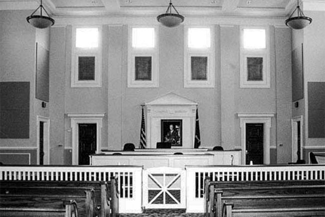 Allendale County Courthouse Courtroom