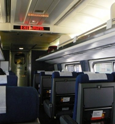 amtrak interior. Black Bedroom Furniture Sets. Home Design Ideas