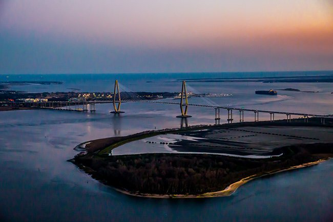 Ravenel Bridge Aerial