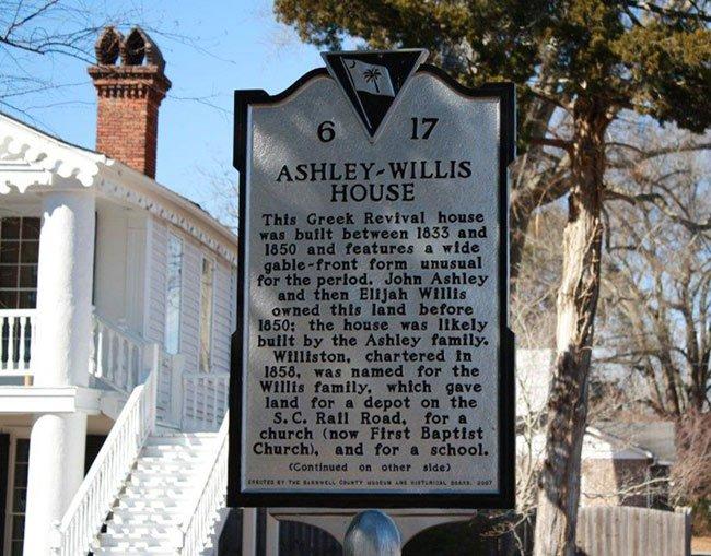 Ashley Willis House Marker