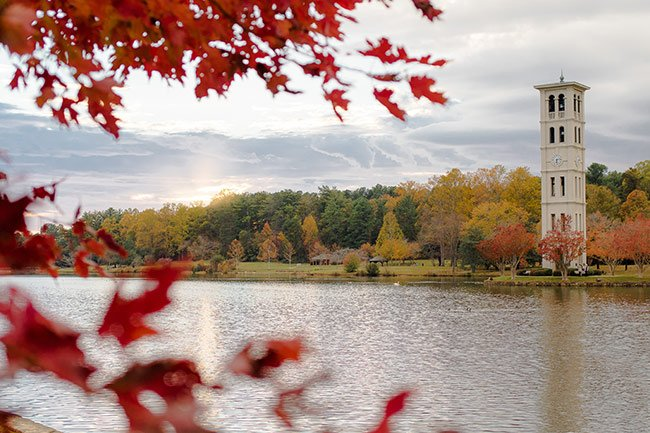 Autumn at Furman University Bell Tower