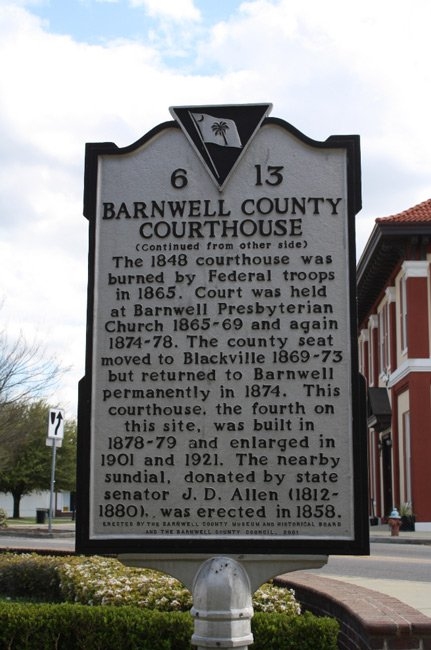 Barnwell Courthouse Marker
