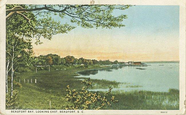 Beaufort Waterfront Postcard