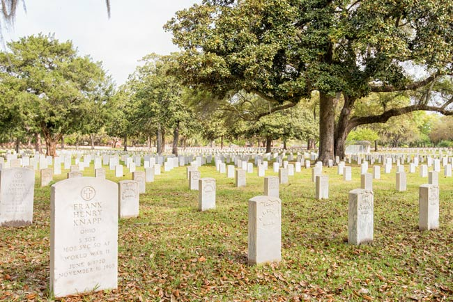Beaufort National Cemetery Markers
