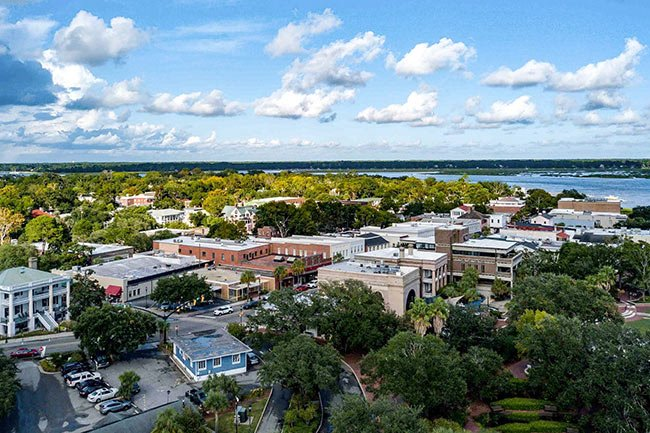 Downtown Beaufort Aerial
