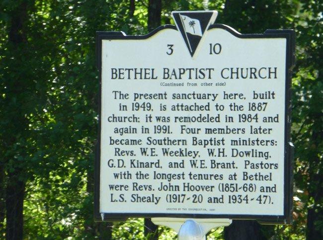 Bethel Baptist Marker