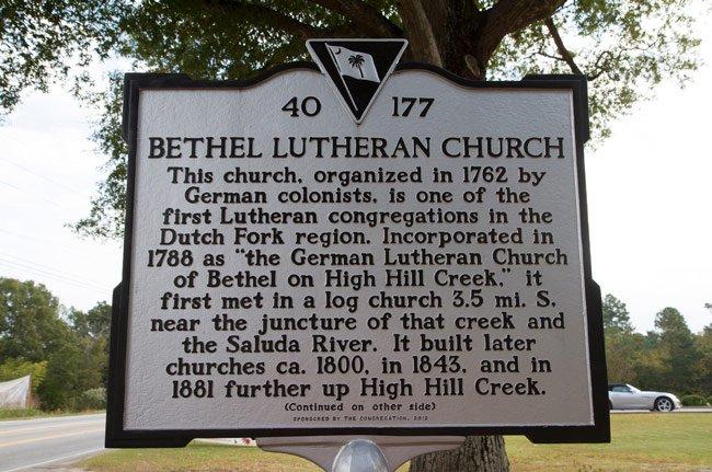 Bethel Lutheran Marker