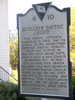 Bethlehem Church Marker