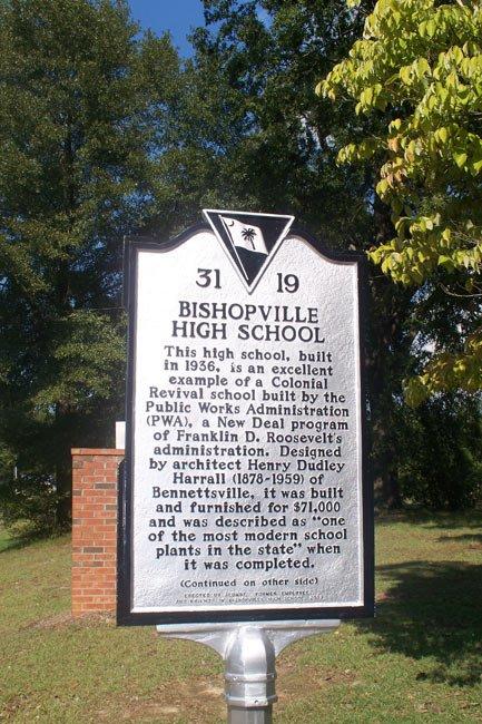Bishopville High School Historic Marker