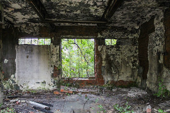 Blenheim Factory Ruins Interior