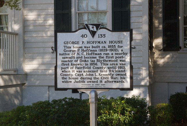 Blythewood Town Hall Marker