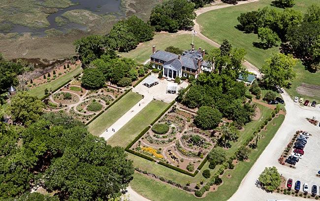 Boone Hall Plantation Aerial