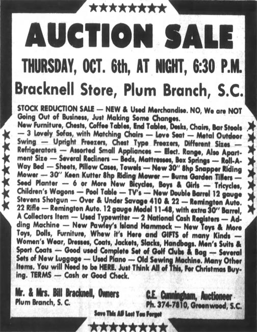 Bracknell Store Auction