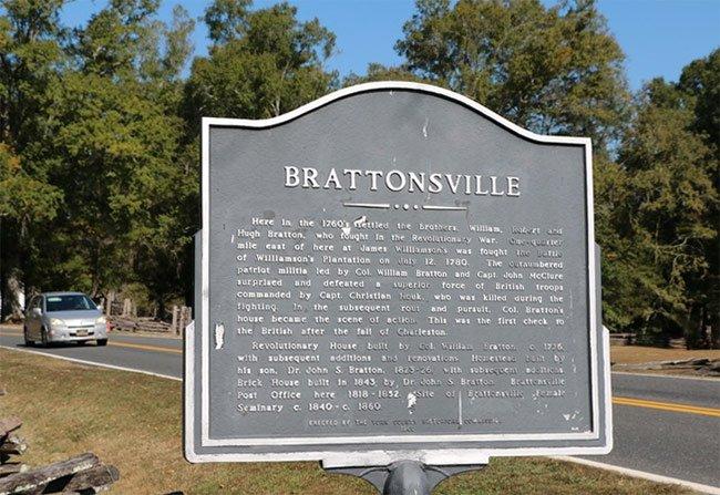 Brattonsville Marker