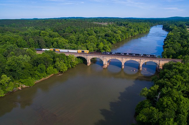 Broad River Train in Blacksburg