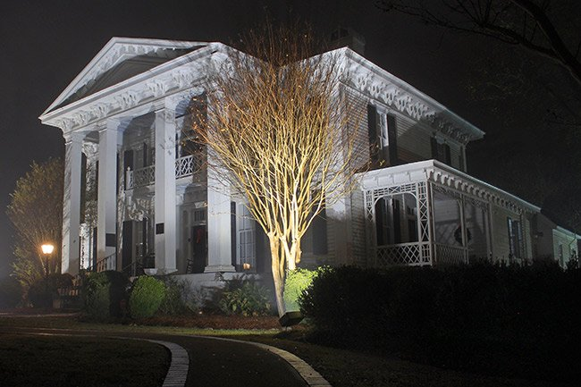 Burt-Stark Mansion, Night Scene