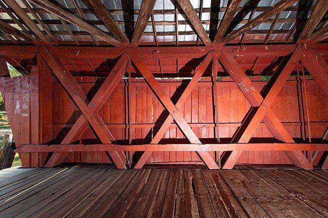 Campbell's Covered Bridge Interior
