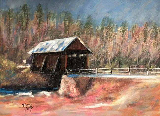 Campbell's Covered Bridge Painting