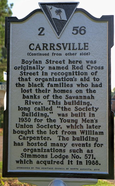 Carrsville Marker Back