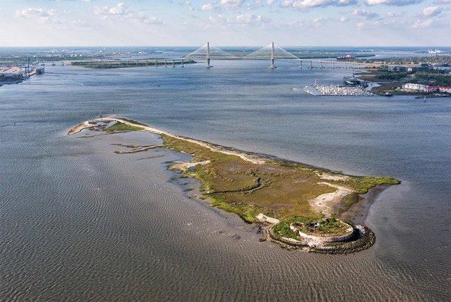 Castle Pinckney Aerial Charleston