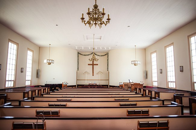 Catfish Creek Baptist Church Interior