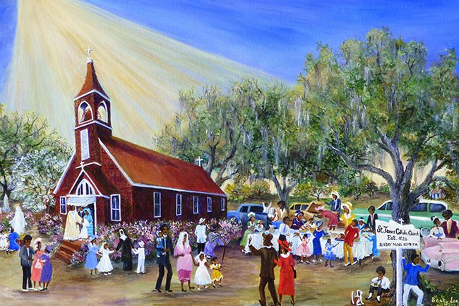 Catholic Hill - St James the Greater Catholic Church Painting