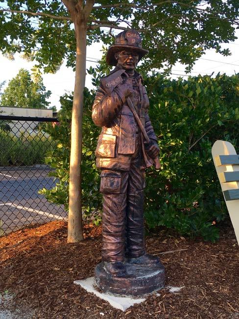 Charleston Nine Fireman Statue