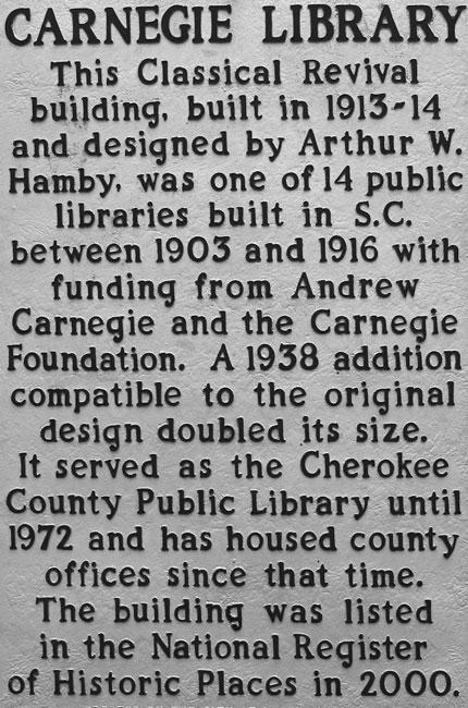 Cherokee County Library Marker