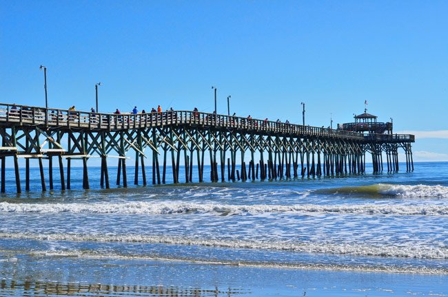 Cherry grove pier north myrtle beach south carolina sc for Fishing piers in myrtle beach