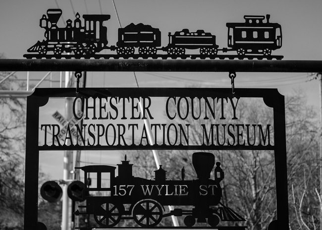 Chester County Transportation Museum Sign